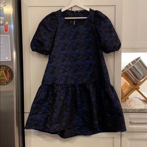 Zara navy and black dress